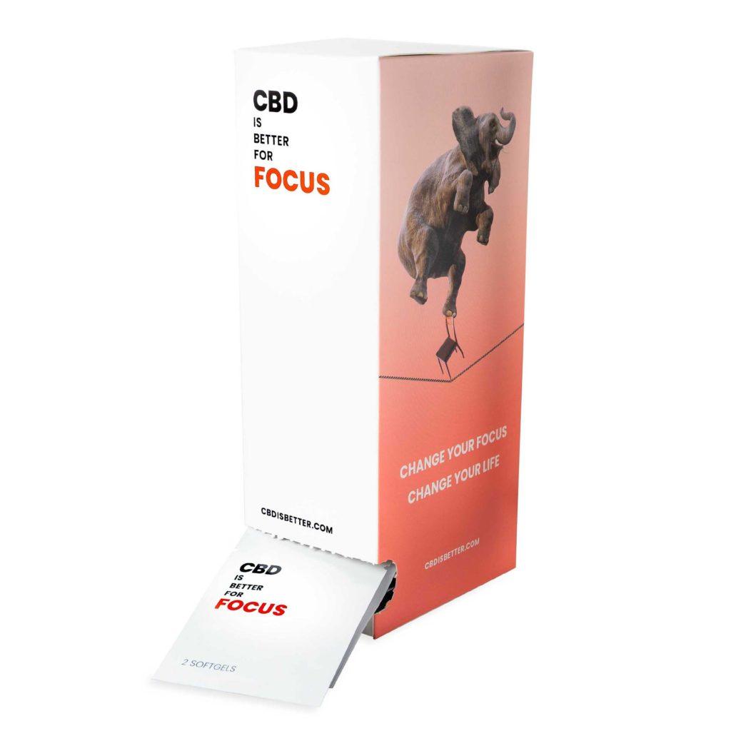 CBD IS BETTER FOR FOCUS Dispenser (25mg CBD)