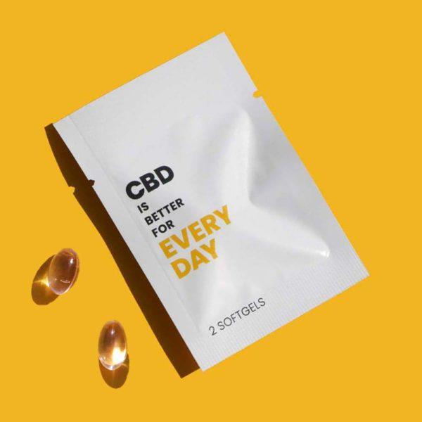 CBD is Better for Every Day Broad Spectrum Vegan CBD Softgels.