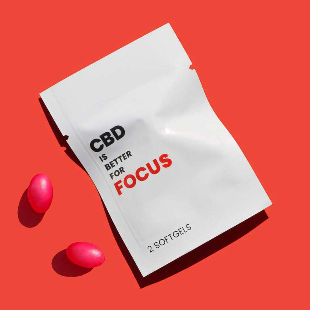 CBD is Better for Focus and Brain Fog. Broad Spectrum Vegan CBD Softgels.