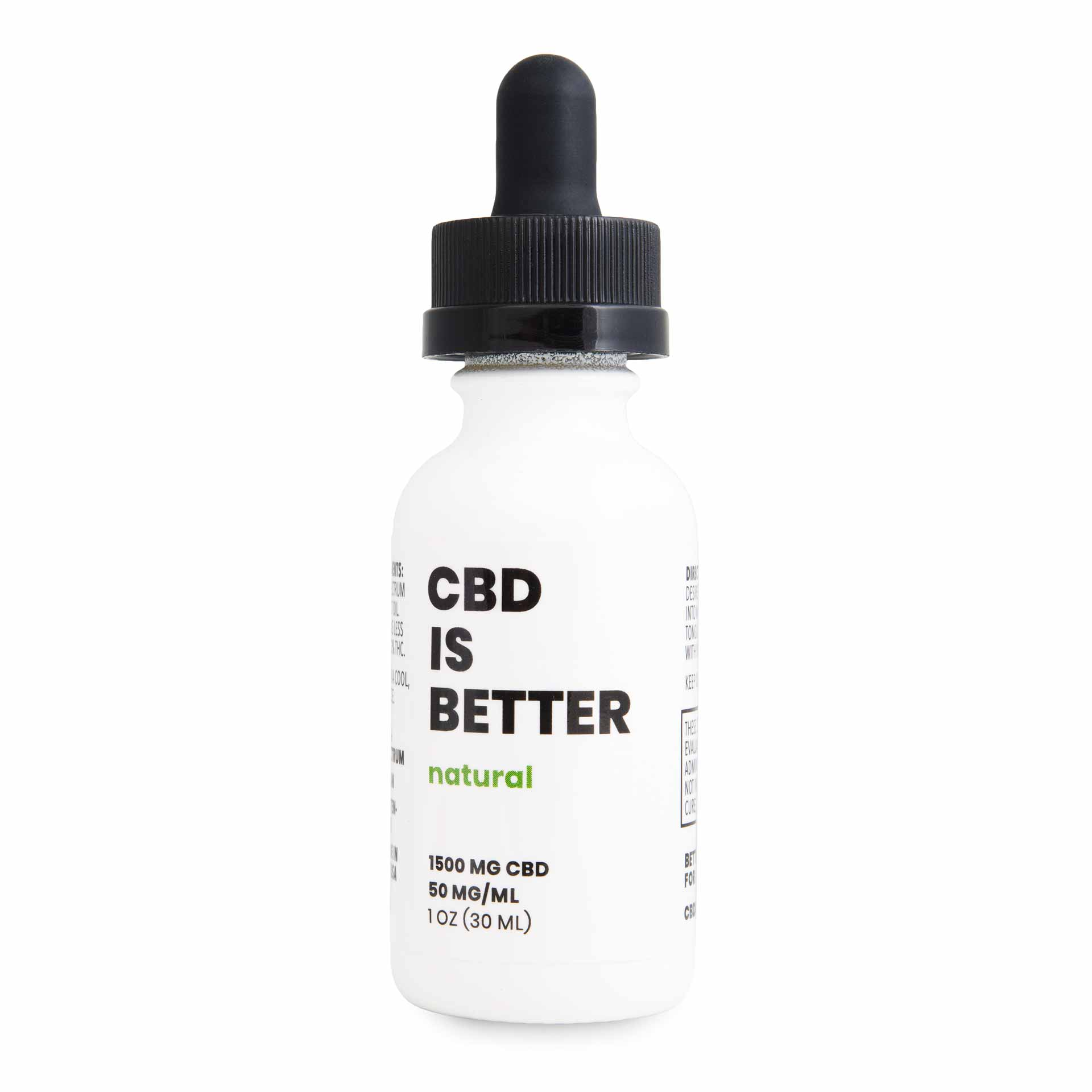 CBD IS BETTER 1 OZ TINCTURE 1500MG - NATURAL
