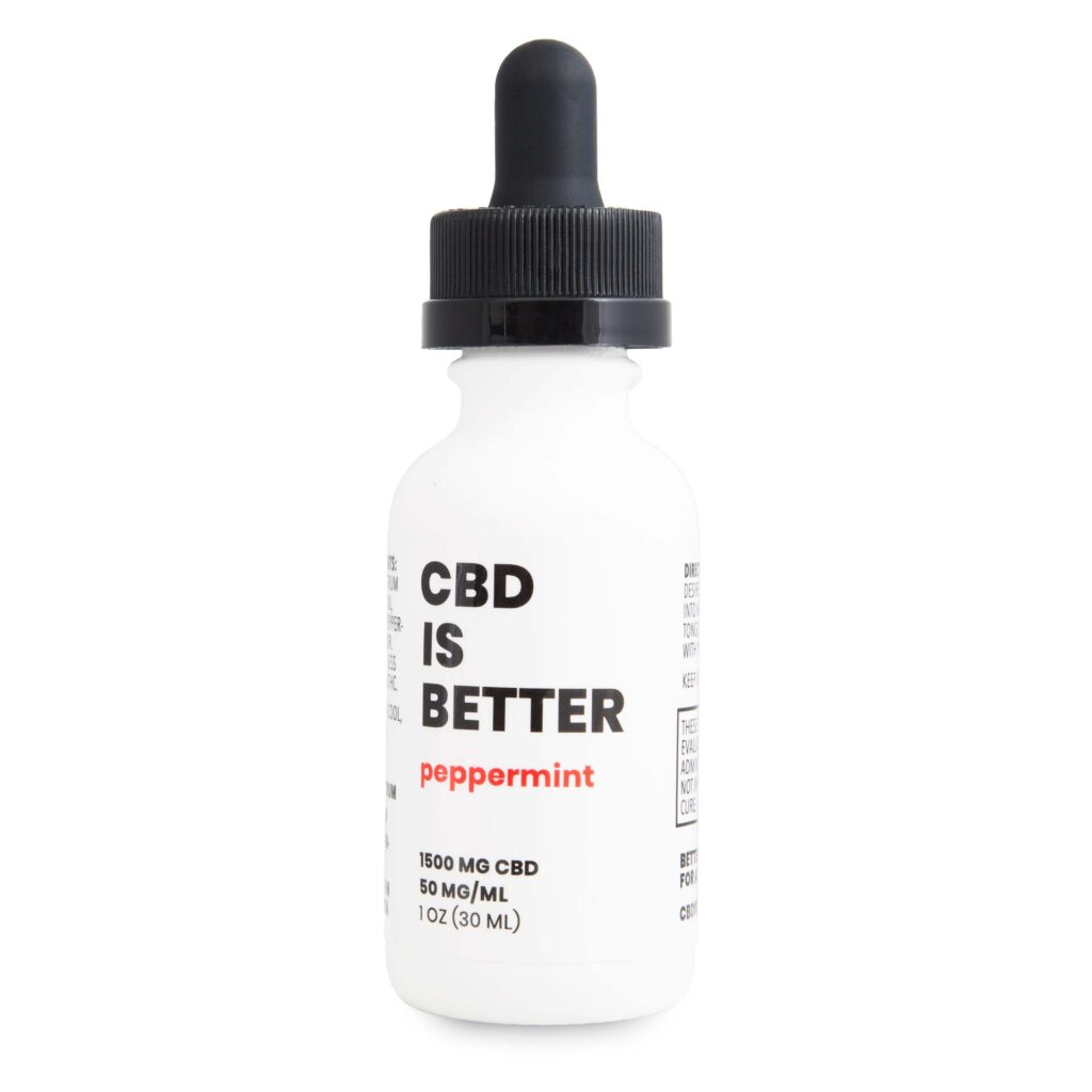 CBD IS BETTER 1 OZ TINCTURE 1500MG - PEPPERMINT