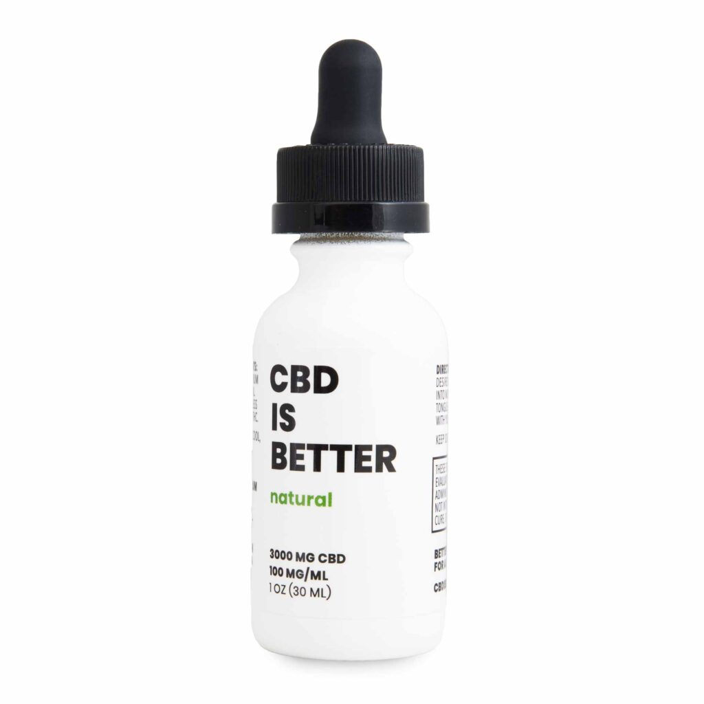 CBD IS BETTER 1 OZ TINCTURE 3000MG - NATURAL