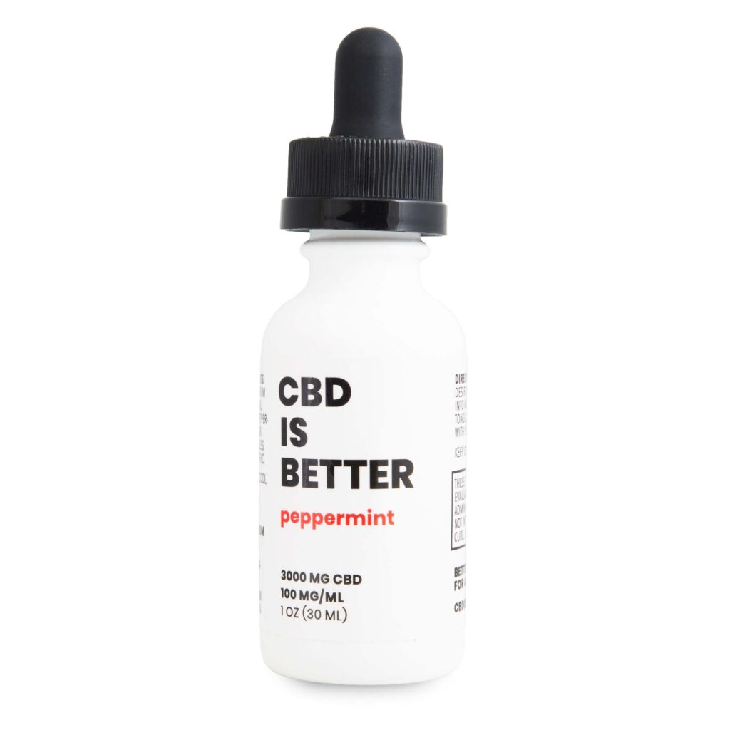 CBD IS BETTER 1 OZ TINCTURE 3000MG - PEPPERMINT