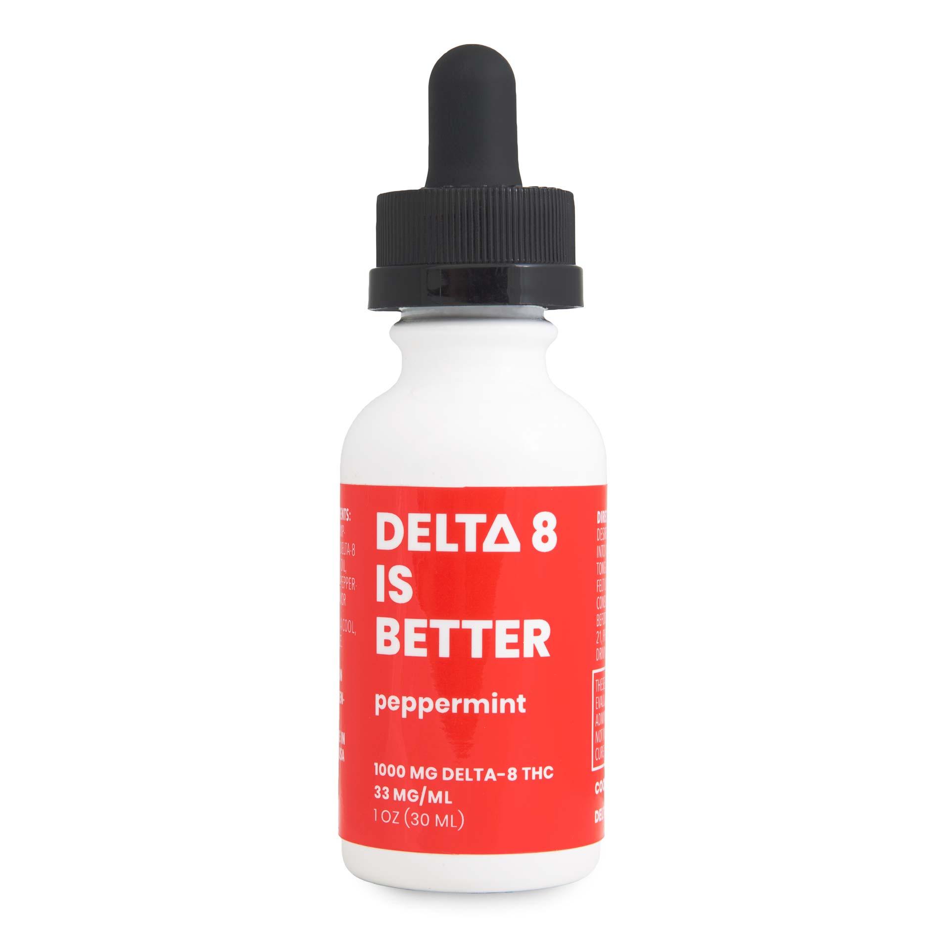 DELTA 8 BETTER 1 OZ TINCTURE 1000MG - PEPPERMINT