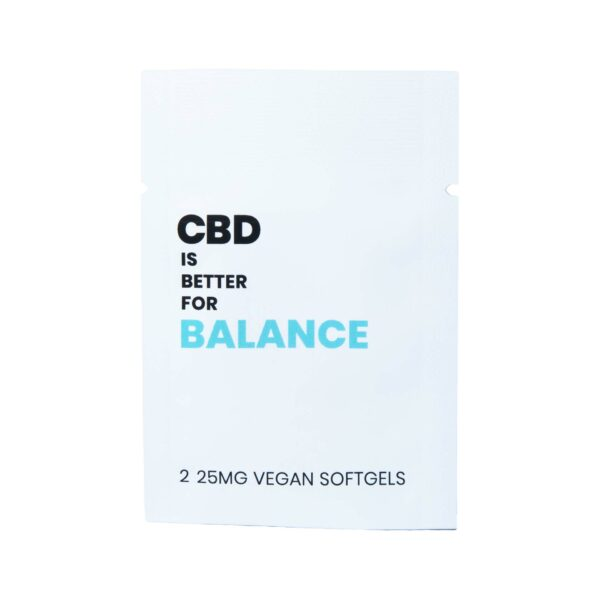 CBD is Better for Balance Broad Spectrum Softgel with Vitamin D. 2 Pill Packet