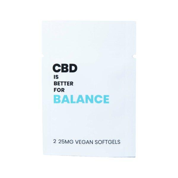CBD IS BETTER FOR BALANCE VEGAN CBD SOFTGELS 2-PILL PACKET