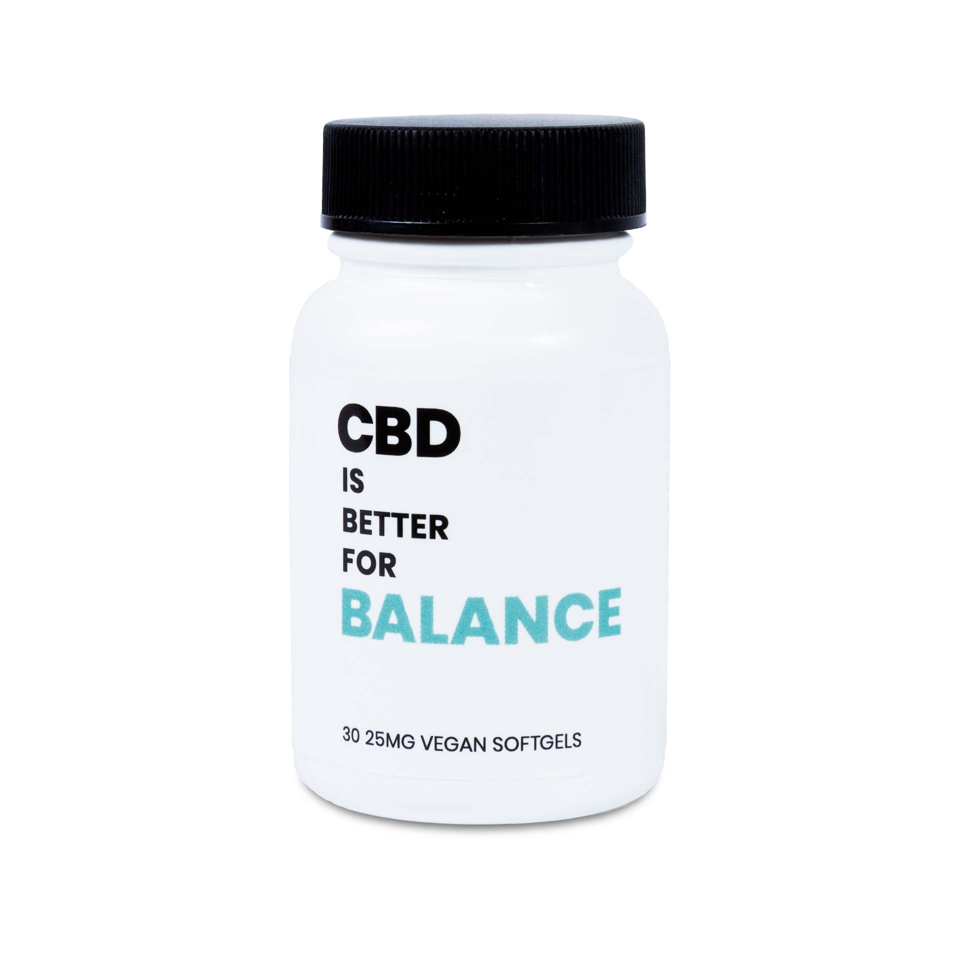 CBD is Better for Balance Broad Spectrum Softgel with Vitamin D. 30 Ct Bottle