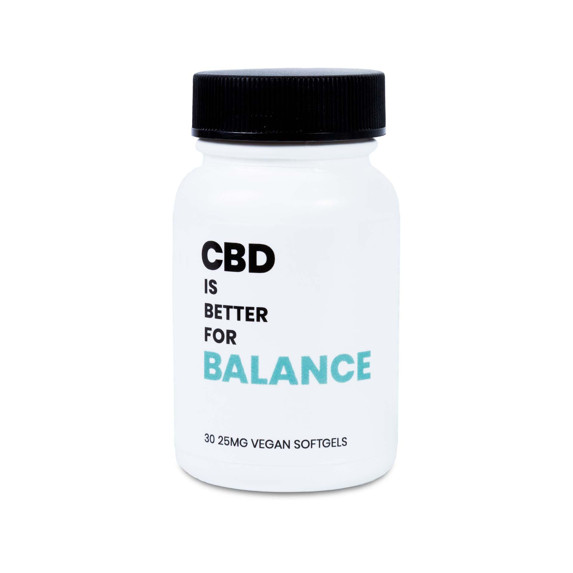 CBD IS BETTER FOR BALANCE VEGAN CBD SOFTGELS 30-CT BOTTLE