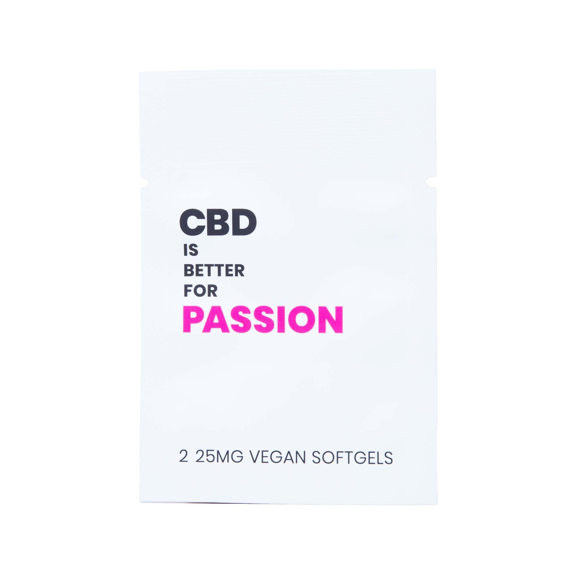 CBD IS BETTER FOR PASSION VEGAN CBD SOFTGELS 2-PILL PACKET