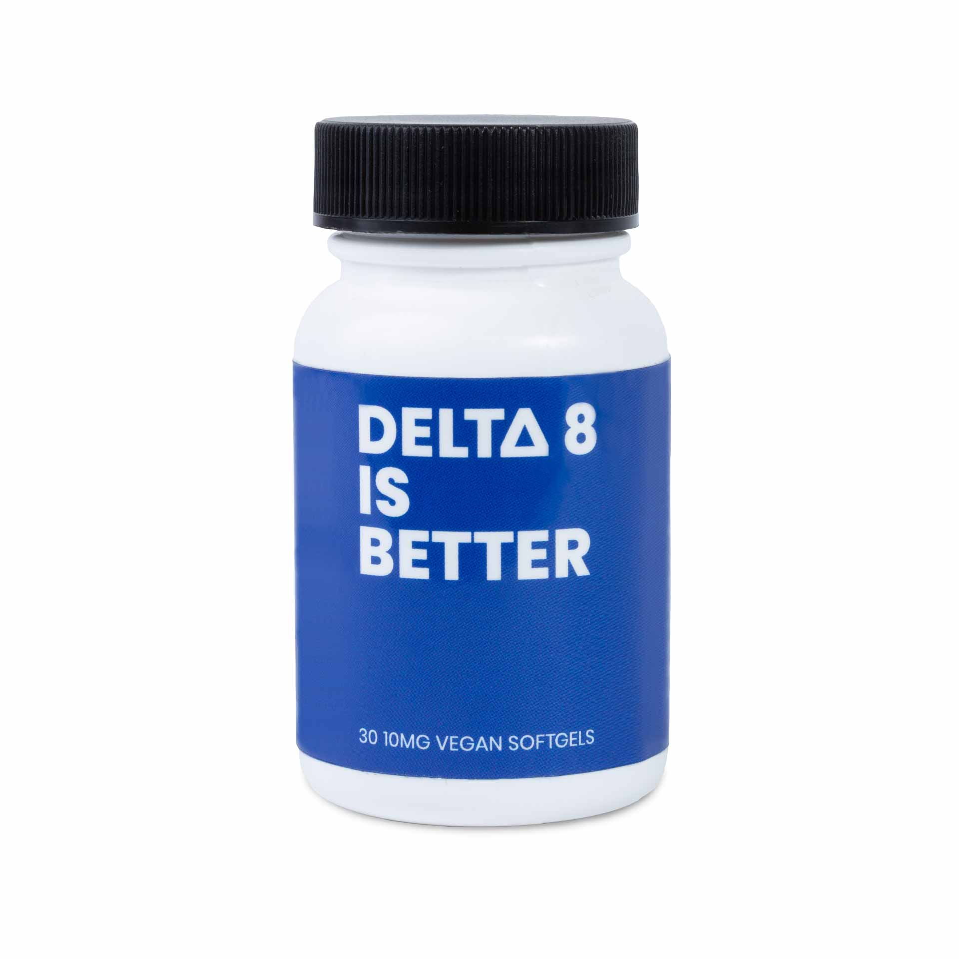 DELTA 8 IS BETTER 10MG VEGAN SOFTGELS 30-CT BOTTLE