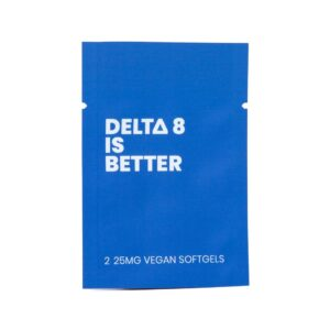 DELTA 8 IS BETTER 25MG VEGAN SOFTGELS 2-PILL PACKET