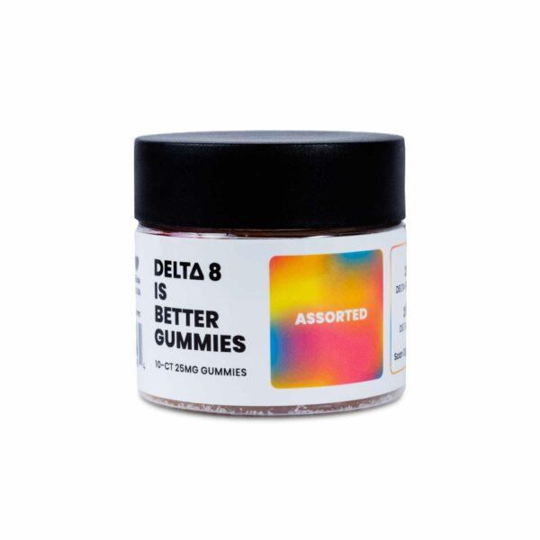 DELTA 8 IS BETTER GUMMIES 10-CT 25MG ASSORTED FRUIT
