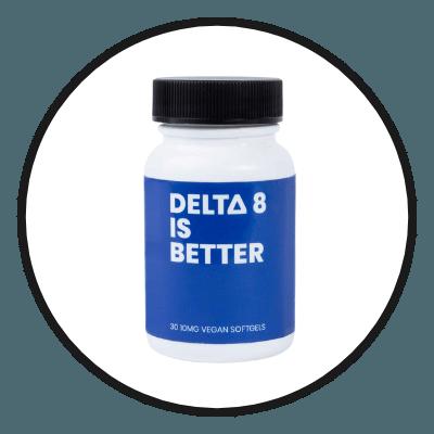 DELTA 8 IS BETTER Vegan Softgels